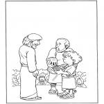 Dibujos de la Biblia - 5 panes y 2 peces 1