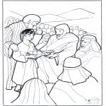 Dibujos de la Biblia - 5 panes y 2 peces 3