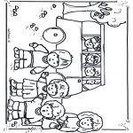 Dibujos Infantiles - A la escuela en autobús