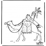 Dibujos de la Biblia - Abraham en Egipto