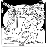 Láminas de la Biblia - Adán y Eva