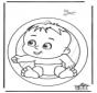 Adorno de ventana de bebé