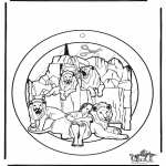 Dibujos de la Biblia - Adorno de ventana de Daniel