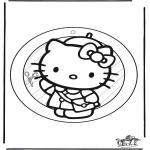 Manualidades - Adorno de ventana de Hello Kitty