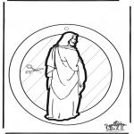 Dibujos de la Biblia - Adorno de ventana de Jesús