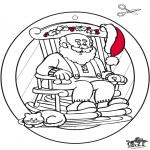 Navidad - Adorno de ventana de Navidad 1