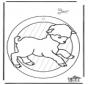 Adorno de ventana de oveja