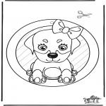 Manualidades - Adorno de ventana - Perro