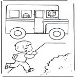Dibujos Infantiles - Al autobús