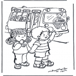 Dibujos Infantiles - Al colegio 2