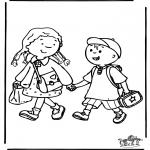 Dibujos Infantiles - Al colegio 3
