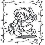 Dibujos Infantiles - Al colegio