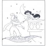 Personajes - Aladin en su alfombra voladora