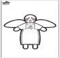 Ángel de la Navidad - Disegno da bucherellare