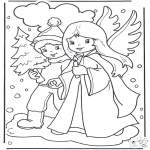 Navidad - Ángel y niño