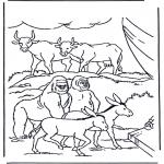 Láminas de la Biblia - Animales en el Arca