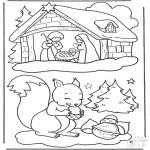 Invierno - Ardilla en la nieve