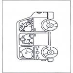 Dibujos Infantiles - Autobús con niños