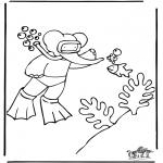 Dibujos Infantiles - Babar bucea