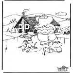 Dibujos Infantiles - Babar sobre hielo