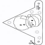 Manualidades - Bandera - muñeco de nieve 2