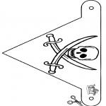 Manualidades - Banderita de pirata