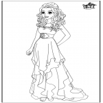 Personajes - Barbie trouwjurk - Vestido de novia