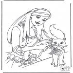 Personajes - Barbie y gato