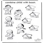 Manualidades - Barca y niño