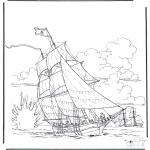 Diversos - Barco en batalla