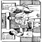 Dibujos de la Biblia - Bautizo bíblico 1