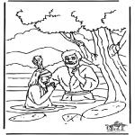 Dibujos de la Biblia - Bautizo de Jesús 1