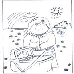 Dibujos Infantiles - Bebé en el carricoche