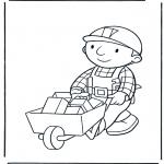 Dibujos Infantiles - Bob con la Carretilla 1