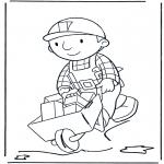 Dibujos Infantiles - Bob con la Carretilla 2