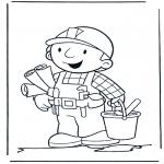 Dibujos Infantiles - Bob con las Maquetas