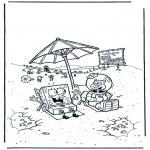 Dibujos Infantiles - Bob Esponja y Sandy