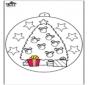 Bola de Navidad con el árbol de Navidad