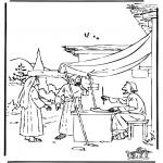 Dibujos de la Biblia - Booz y Ruth