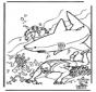 Buceador y tiburón