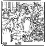 Dibujos de la Biblia - Busca las 15 vasijas, Saba