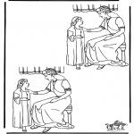 Dibujos de la Biblia - Busca las10 diferencias Naaman