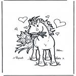 Animales - Caballo con flores