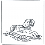 Dibujos Infantiles - Caballo de Juguete 1
