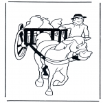 Animales - Caballo y carro