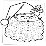 Navidad - Calendario de adviento de Papá Noel