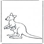 Animales - Canguro y cría