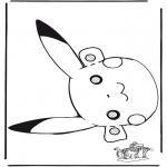 Tarjetas perforadas - Careta de Pokemon