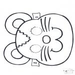 Tarjetas perforadas - Careta perforada 2