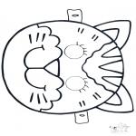 Tarjetas perforadas - Careta perforada 4